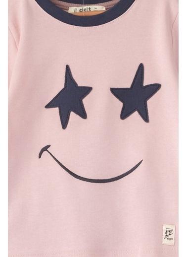 Cigit Smiley Face Pijama Takımı Pudra